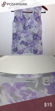 Halogen silk tank top Halogen silk ruffle floral tank top. Halogen Tops Tank Tops