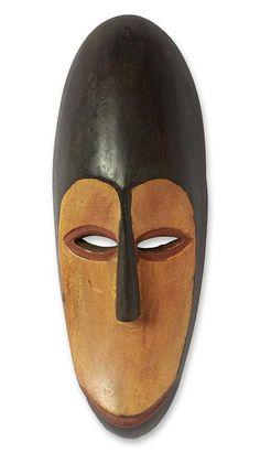 Gabonese wood mask, 'Fang Protector' - Gabonese wood mask