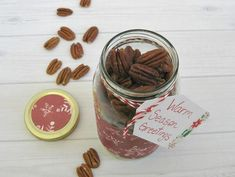 It's the time of year to start planning what I'll make for neighbor gifts.  This year I'm moving away from sweet baked gifts to savory homemade gifts. Warm seasoned pecans are one of my favorite holiday party recipes and it is a family favorite that I've inherited from my mom.  The recipe is easy to make in large batches so it's perfect for gift giving or for large holiday parties.  I appreciate that it's easy to make it with subtle seasoned flavor or make it as spicy as you'd like.