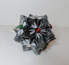 Small Kusudama Flower Ball Ornament by FoldsOfLove on Etsy, $20.00