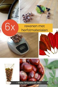 Goed(koop) onderwijs: 6x rekenen met kleuters met herfstmaterialen - Juf Bianca Autumn Crafts, Fall Crafts For Kids, Fall Projects, School Projects, Primary School, Pre School, Primary Education, Educational Leadership, Educational Technology