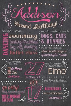 Hey, I found this really awesome Etsy listing at http://www.etsy.com/listing/157662154/birthday-chalkboard-sign-printable-girl