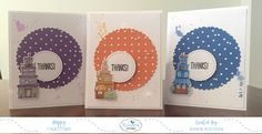 Today is Designer Challenge Day over at Elizabeth Craft Designs . The FuN challenge this month for us was to create three similar CAS card...