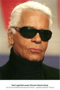 7bf4d795140 Karl Lagerfeld in Chrome Hearts Eyewear