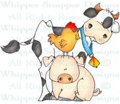 Farmtown Melody - Farm - Animals - Rubber Stamps - Shop