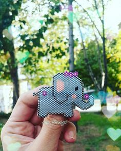 Fil Broş #elephant #miyuki #broş #beads #peyote #stitch #brick #bracelets #necklace #boncuk #diy