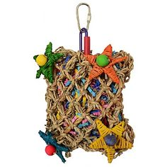 Pickin Pocket Parrot Toy. £8.99. For bigger birds such as #Macaws, #Cockatoos and #Amazons.