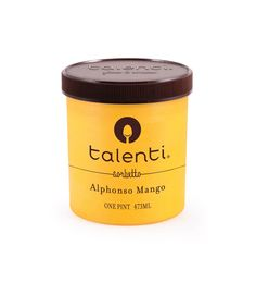 Talenti Alphonso Mango sorbetto. We make this exotic sorbetto simply with ripe Indian mangos, pure sugar and fresh lemon. It's free of milk, though your mouth might have trouble believing it at first. Just keep eating it until your mouth admits it was wrong and apologizes.