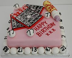 bingo cake; make the bingo balls from cake balls.