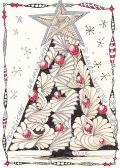 "SimTangle: DIVA Challenge #248 ""The Gift of Zentangle"" and ......... MERRY CHRISTMAS!"