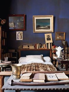 """robert-hadley: """" The World of Interiors, May Photo - Jean Marie del Moral """" World Of Interiors, Dark Interiors, Home Bedroom, Bedroom Decor, Bedrooms, Master Bedroom, Bohemian House, Home Decor Kitchen, Kitchen Rustic"""