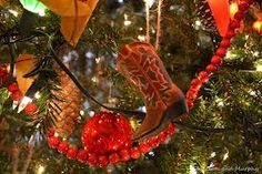 christmas ornament cowboy boots