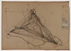 edric Price (British, 1934–2003)  Potteries Thinkbelt Project, Staffordshire, England, Plan of Desire Lines-Physical and Mental Exchange  Da...