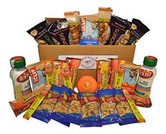 High Protein Healthy Snack Box  Individually Wrapped with 28 Snacks Plus Snack Better Stress Ball * Details can be found by clicking on the image.