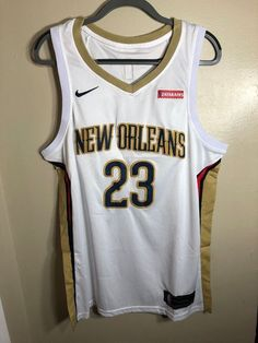 1aeacb333bb Men 23 Anthony Davis Jersey White New Orleans Pelicans Swingman Fanatics. Kyrie  Irving ...