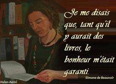 Citation sur les livres - Simone de Beauvoir