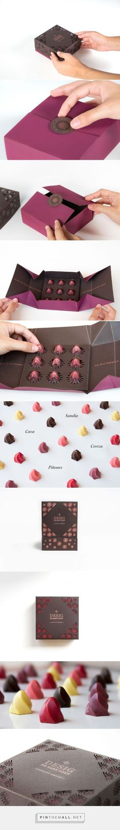 Branding and packaging for Desig de Sant Joan on Behance curated by Packaging Diva PD. Wow, look at this die-cut candy packaging design. Yummy.