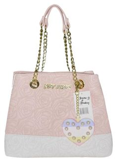 68aa1f0752 Betsey Johnson Quilted Rose   Chain Strap   Blush Faux Leather Tote. Get  one of