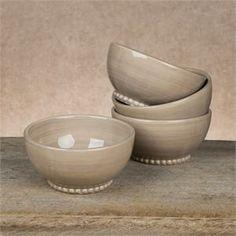 Gracious Goods Collection Livingstone Linen Soup Bowls. New 2014! Ceramic..