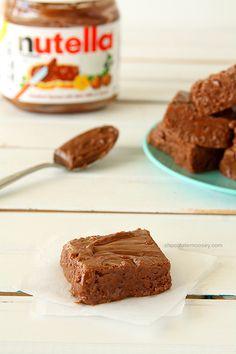 Easy Nutella Fudge   www.chocolatemoosey.com