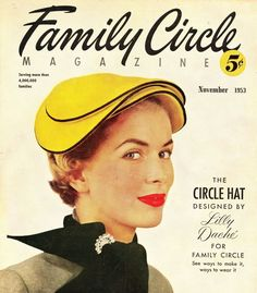 what-i-found: Make your own Lilly Dache Circle Hat! 1953