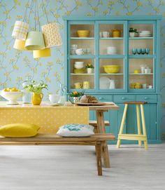 Sala da pranzo in giallo