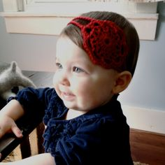 Hand Crocheted Red Apple Doily Headband by OhJustDandy on Etsy, $12.00