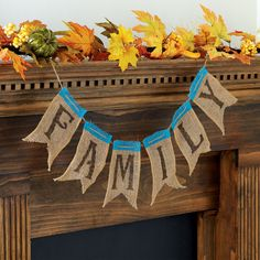 This raw bar inspired burlap banner is the perfect fall addition to your mantel decor. Change up...