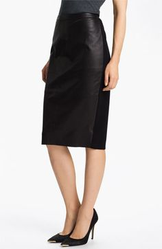 Leather panel pencil skirt! - Nordstrom