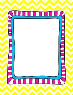 *✿**✿*FRAME*✿**✿* Page Boarders, Boarders And Frames, Frame Border Design, Page Borders Design, Chevron Frames, Doodle Frames, Kids Background, Quilt Labels, Borders For Paper
