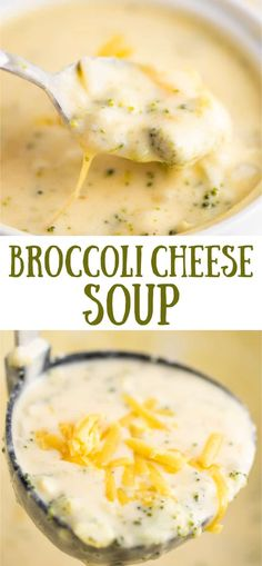 Comfort food in a bowl! This insanely creamy cheesy broccoli cheese soup is alwa… Comfort food in a bowl! This insanely creamy cheesy broccoli cheese soup is always a winner! Brocolli Cheese Soup, Cheesy Broccoli Soup, Broccoli Recipes, Broccoli And Cheese, Soup Recipes, Broccoli Cheddar, Chili Recipes, Ketogenic Recipes, Keto Recipes