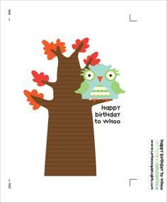 My Owl Barn: Freebie: Birthday Printables