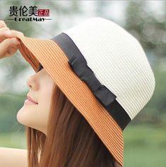 New 2014 summer beach sun hat jazz summer hats for women fashion brand straw hat cap vintage lady Bow floppy Hat #BeachHatsForWomen
