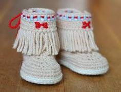 Billedresultat for baby moccasins - free crochet pattern