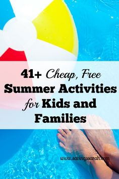 Looking for ways to provide fun for your crew this summer? Don't miss these 41+ Free or Cheap Summer Activities for Kids and Families. Good Times and Happy Wallets.