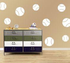 Child's Room Baseballs - Vinyl Decal Wall Art