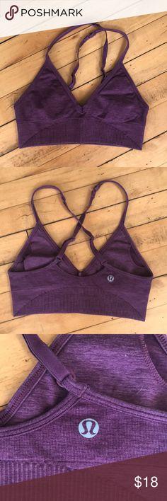 Lululemon sports bra Garnett color worn but Excellent condition lululemon athletica Tops Crop Tops