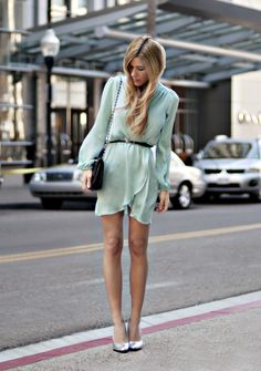Mint dress, this color is so fantastic