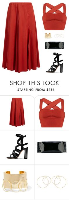 """Sin título #4889"" by mdmsb ❤ liked on Polyvore featuring Khaite, MM6 Maison Margiela and Arme De L'Amour"