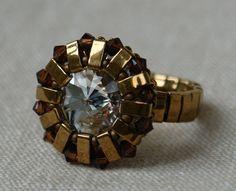 Beaded Ring Tutorial Half Tila Ring Half Tila by ByAllBeads