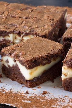 OH MY GOODNESS OH MY GOODNESS!!!!!!! Chunky Cheesecake Brownies