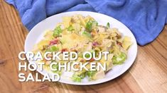 Southwestern Chicken Salad {Football Friday} - Plain Chicken Hot Chicken Salads, Cream Of Chicken Soup, Chicken Gravy, How To Cook Sausage, How To Cook Chicken, Hashbrown Breakfast Casserole, Tamale Casserole, Cheesy Chicken, Ranch Chicken