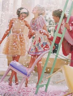 Girls night in image- nice colours. Would ask 'models' for hero shot to be dressed similar to this- nice dresses, make up etc. Glamorous but comfortable. Lily Cole, Décoration Baby Shower, Bridal Shower, Festa Party, Pretty Pastel, Models, Sweet Sixteen, Pretty Pictures, Girls Night