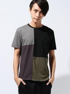 Com2ons code Switch / patchwork T shirt on ShopStyle