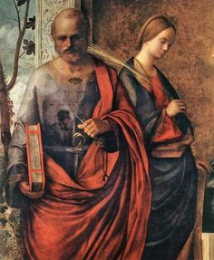 San Zaccaria Altarpiece (detail) by BELLINI, Giovanni #art
