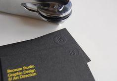 質感鋼印名片設計 Because Studio | MyDesy 淘靈感