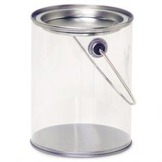 Clear paint pails for favours bucket container. Little Big Company