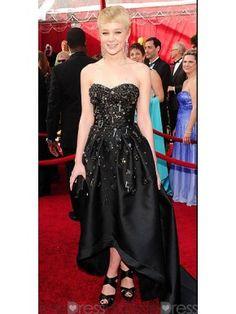 Beauteous A-line Sweetheart-neck Black Celebrity Dress x46 - Celebrity  Wedding Dresses - 32f89d83ebe6