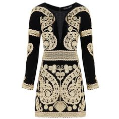 For Love and Lemons Paris Mini Dress (£695) ❤ liked on Polyvore featuring dresses, vestidos, embroidered dress, long sleeve party dresses, short dresses, mini dress and party dresses