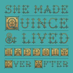 Quince Font by Jessica Hische